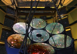 Fourth mirror of Giant Megellan telescope being made