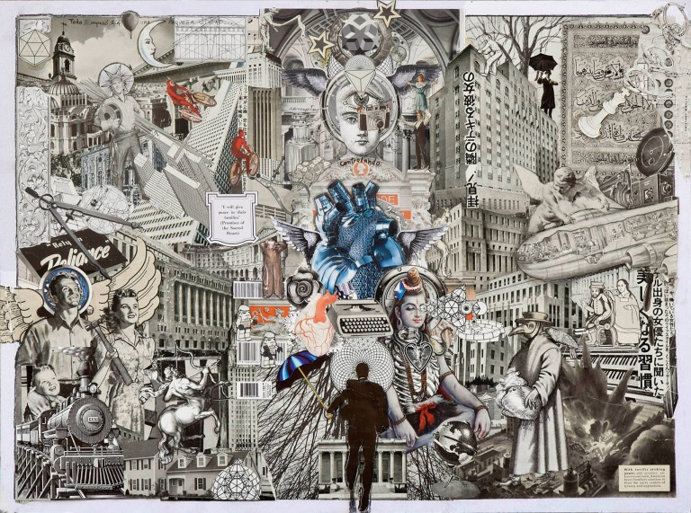 "Ernesto Muñiz, ""Control"", de la serie The Heart of three cities, 2015, Collage, 80 x 60 cm. Imagen cortesía del artista."