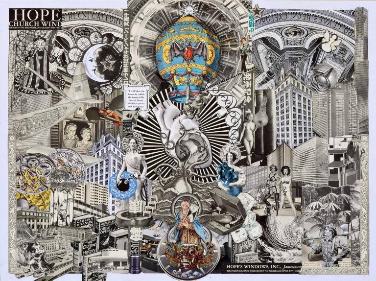 """Ernesto Muñiz, """"Hope"""", de la serie The Heart of three cities, 2015, Collage, 80 x 60 cm. Imagen cortesía del artista."""