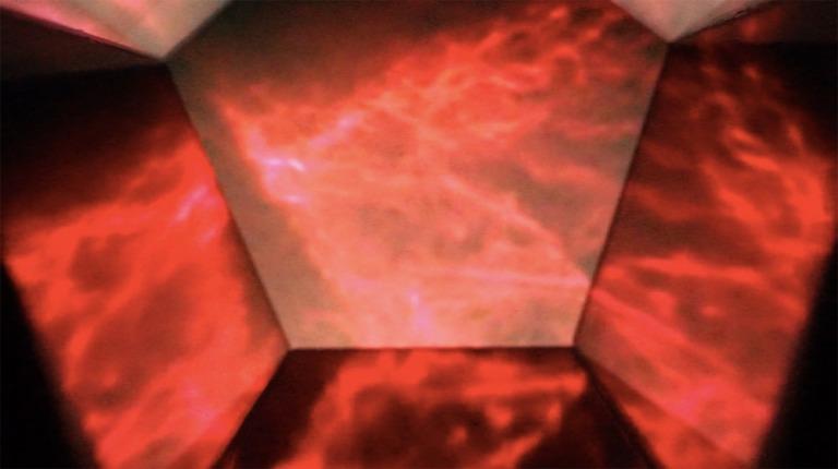 """Mick Lorusso & Clarissa Ribeiro, """"The Cat's Eye Nebula"""", 2015, Vista de la comunicación digital (entrecruzamiento cuántico) entre los artistas. Imagen cortesía de los artistas."""