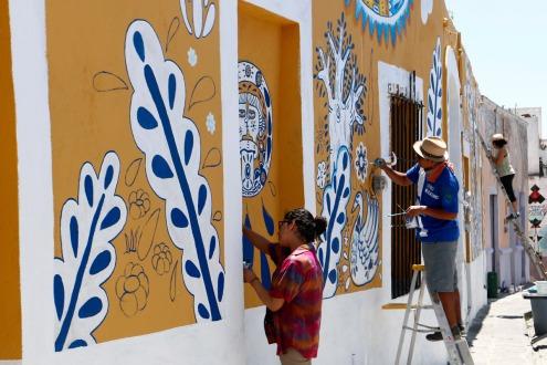 Barrio mexicano reduce la criminalidad a través del arte (video y fotos)