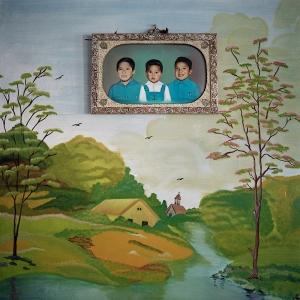 Florencia Blanco, Adrián, Rubén y Jesús, de la serie Painted Photos, 2008. ©Florencia Blanco, 2008.