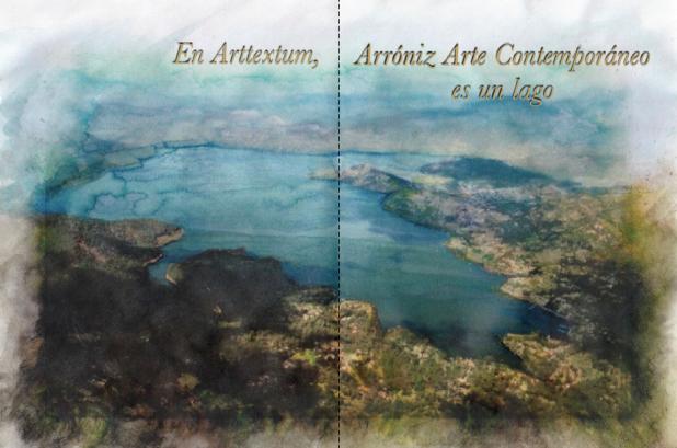 Visualización de Arróniz Arte Contemporáneo como un lago. © Frida Cano, 2017