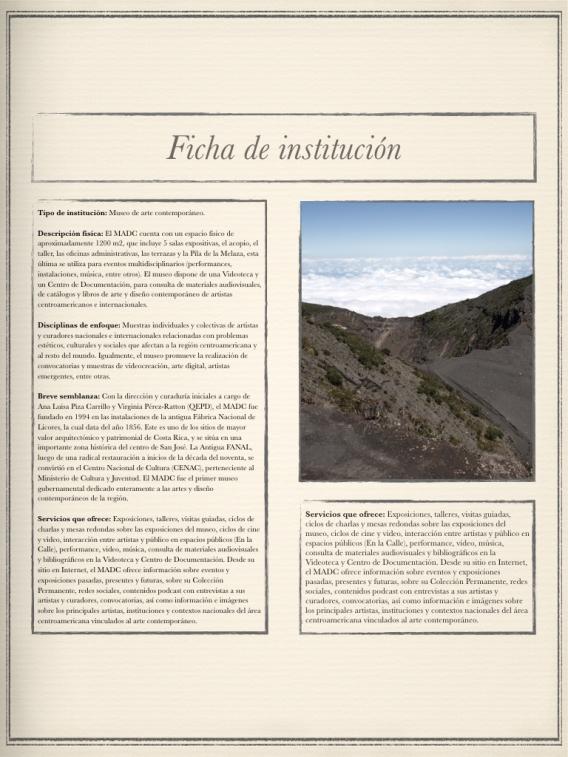Ficha informativa del Museo de Arte y Diseño Contemporáneo