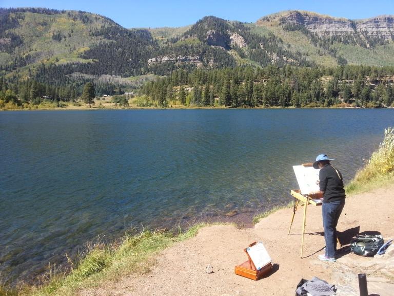 Taller Landscape ~ Mindscape sobre cartografía emocional a través dibujo tradicional y cartografías emocionales, 2017, Haviland Lake, Colorado, USA