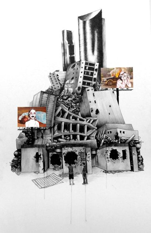 """Roland Jacob, """"Paisaje,"""" acrílico sobre tabla, 2012"""